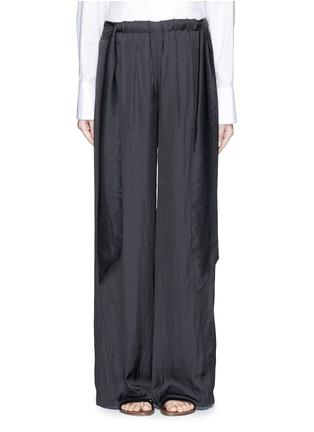 首图 - 点击放大 - CÉDRIC CHARLIER - 系带装饰皱褶阔腿裤