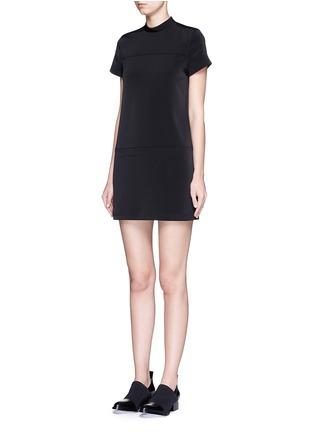 正面 - 点击放大 - T BY ALEXANDER WANG - 车缝线装饰半高领连衣裙