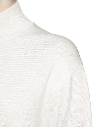 细节 - 点击放大 - T BY ALEXANDER WANG - 背面挖空高领羊毛针织衫