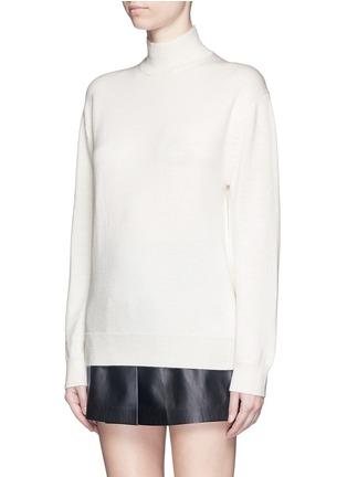 正面 -点击放大 - T BY ALEXANDER WANG - 背面挖空高领羊毛针织衫