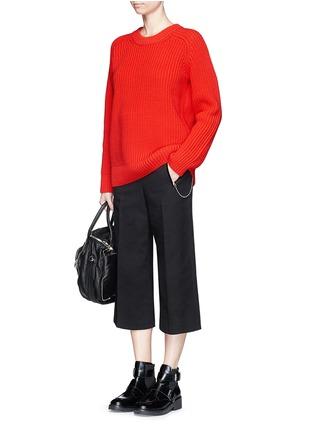 模特儿示范图 - 点击放大 - ALEXANDERWANG.T - 单色混棉针织衫