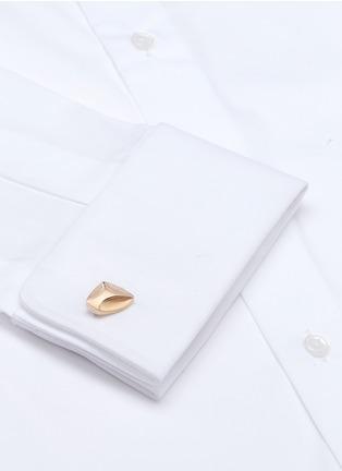 模特儿示范图 - 点击放大 - Lanvin - 凹凸表面金属袖扣