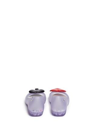 背面 - 点击放大 - MELISSA - X ALICE IN WONDERLAND黑桃红心装饰PVC坡跟鞋