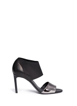 首图 - 点击放大 - VINCE - Stephanie金属色拼接真皮高跟凉鞋
