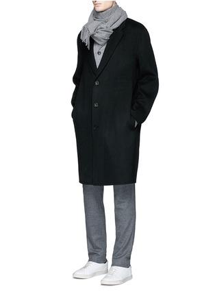 模特儿示范图 - 点击放大 - ACNE STUDIOS - CHARLES羊毛混羊绒及膝长大衣