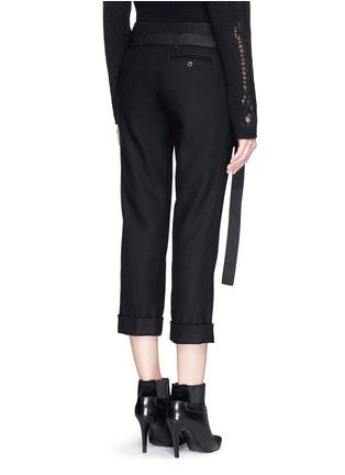 背面 - 点击放大 - 3.1 PHILLIP LIM - 层叠搭带混羊毛七分裤
