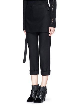 正面 - 点击放大 - 3.1 PHILLIP LIM - 层叠搭带混羊毛七分裤