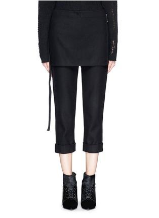 首图 - 点击放大 - 3.1 PHILLIP LIM - 层叠搭带混羊毛七分裤
