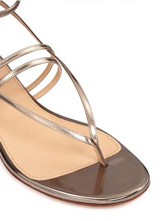 细节 - 点击放大 - SERGIO ROSSI - 金属层次搭带夹脚平底凉鞋