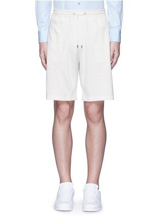 首图 - 点击放大 - GUCCI - 条纹蜜蜂刺绣短裤