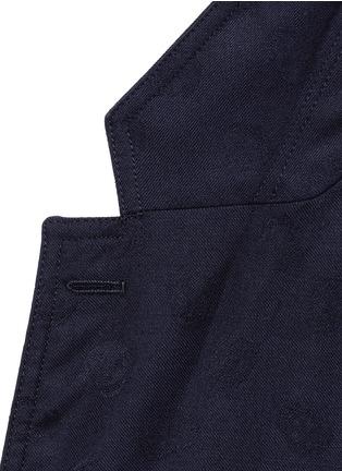 细节 - 点击放大 - Alexander McQueen - Skull jacquard soft blazer