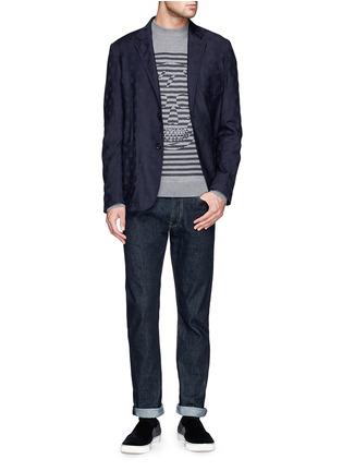 模特儿示范图 - 点击放大 - Alexander McQueen - Skull jacquard soft blazer