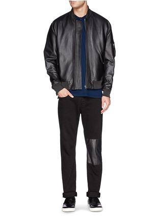 模特儿示范图 - 点击放大 - ALEXANDER MCQUEEN - Poplin harness polo shirt