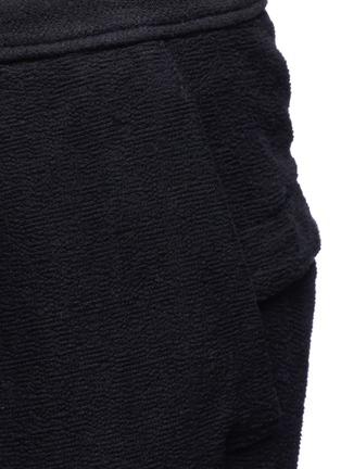 细节 - 点击放大 - THE VIRIDI-ANNE - 低档褶裥纯棉七分裤