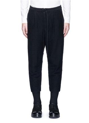 首图 - 点击放大 - THE VIRIDI-ANNE - 低档褶裥纯棉七分裤