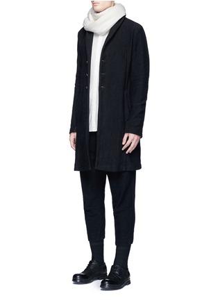 模特儿示范图 - 点击放大 - THE VIRIDI-ANNE - 低档褶裥纯棉七分裤
