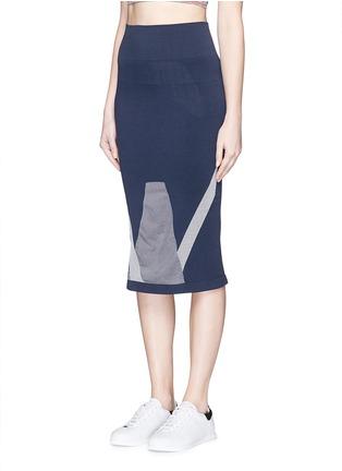正面 -点击放大 - LNDR - COMPASS条纹弹力针织半身裙