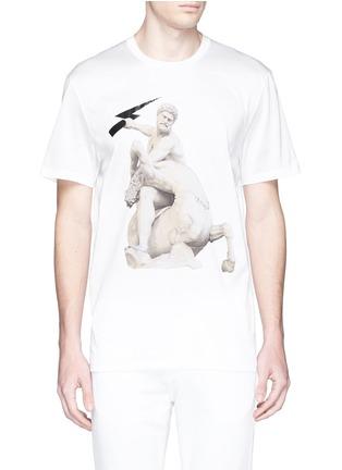 首图 - 点击放大 - NEIL BARRETT - Thunderbolt sculpture print T-shirt