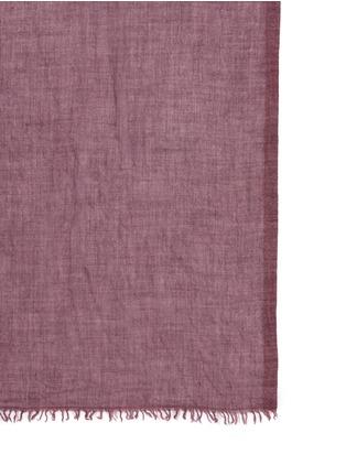 细节 - 点击放大 - FALIERO SARTI - Dianetta须边羊绒混丝围巾