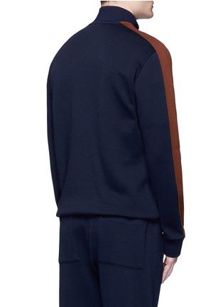 背面 - 点击放大 - Marni - 拼色条纹混羊毛高领夹克