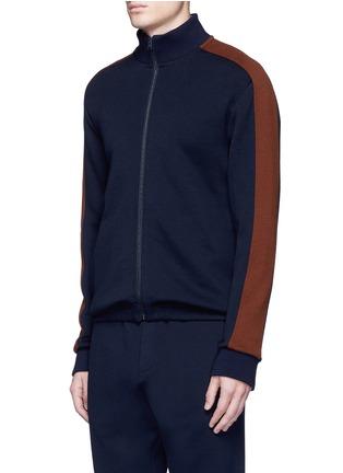 正面 -点击放大 - Marni - 拼色条纹混羊毛高领夹克