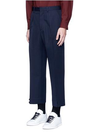 细节 - 点击放大 - MARNI - 褶裥羊毛及踝裤