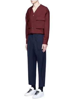 模特儿示范图 - 点击放大 - MARNI - 褶裥羊毛及踝裤