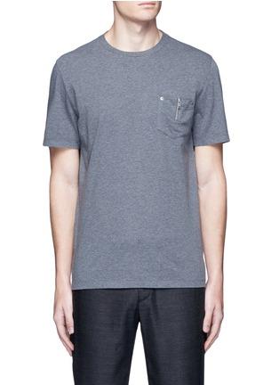 首图 - 点击放大 - MAISON MARGIELA - 拉链孔钉口袋纯棉T恤