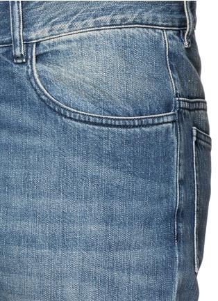 细节 - 点击放大 - MAISON MARGIELA - 拼接裤腿水洗直脚牛仔裤