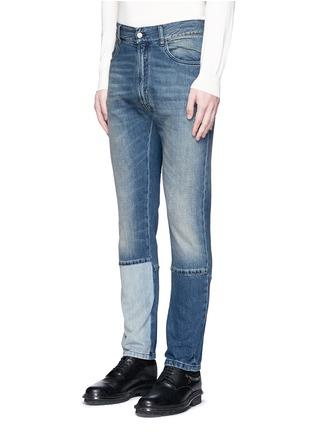正面 -点击放大 - MAISON MARGIELA - 拼接裤腿水洗直脚牛仔裤