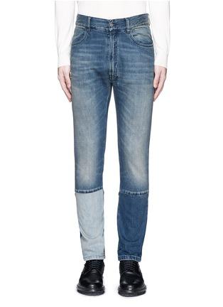 首图 - 点击放大 - MAISON MARGIELA - 拼接裤腿水洗直脚牛仔裤