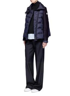 Moncler 混羊毛拼接羽绒夹克