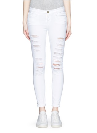 细节 - 点击放大 - FRAME DENIM - LE COLOR修身破洞牛仔裤