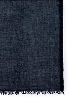 细节 - 点击放大 - FALIERO SARTI - 须边羊绒混丝围巾