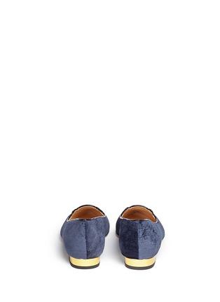 背面 - 点击放大 - CHARLOTTE OLYMPIA - Mid-Century Kitty猫脸刺绣尖头平底鞋