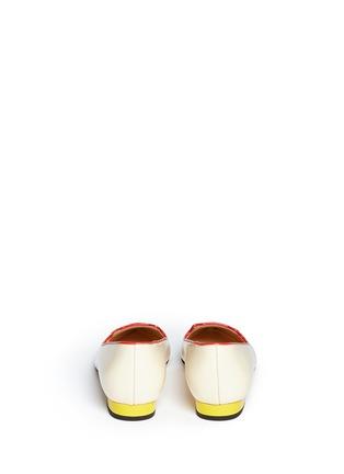 背面 - 点击放大 - CHARLOTTE OLYMPIA - Mid-Century Kitty猫脸刺绣牛皮平底鞋
