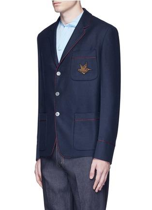 正面 -点击放大 - GUCCI - 小鸟徽章羊绒西服外套