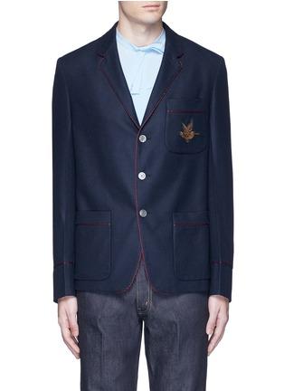 首图 - 点击放大 - GUCCI - 小鸟徽章羊绒西服外套