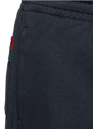 细节 - 点击放大 - GUCCI - 蜜蜂条纹图案混棉休闲长裤