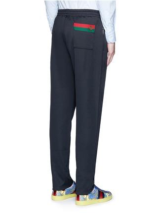 背面 - 点击放大 - GUCCI - 蜜蜂条纹图案混棉休闲长裤