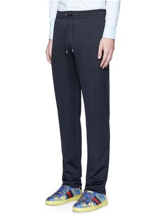 正面 -点击放大 - GUCCI - 蜜蜂条纹图案混棉休闲长裤