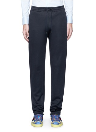 首图 - 点击放大 - GUCCI - 蜜蜂条纹图案混棉休闲长裤