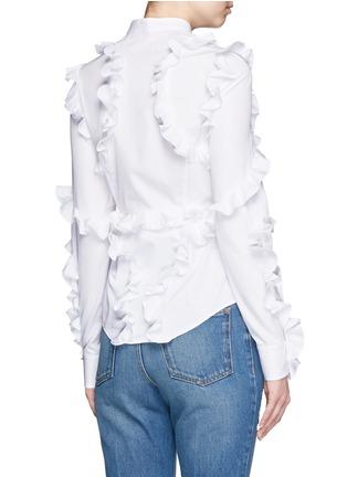 背面 - 点击放大 - ALEXANDER MCQUEEN - 纯棉府绸荷叶边衬衫