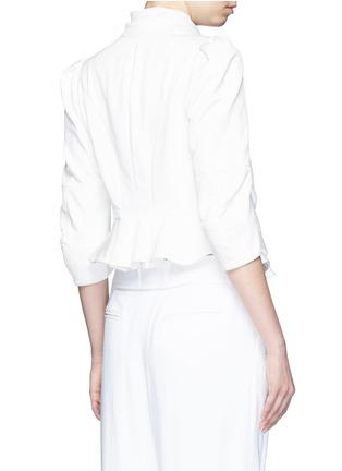 背面 - 点击放大 - Alexander McQueen - 雪纺拼接褶裥提花夹克