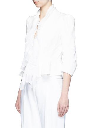 正面 - 点击放大 - Alexander McQueen - 雪纺拼接褶裥提花夹克