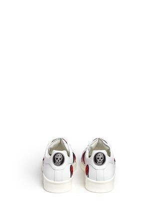 背面 - 点击放大 - ALEXANDER MCQUEEN - 骷髅头造型刺绣拼贴低筒运动鞋