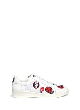 首图 - 点击放大 - Alexander McQueen - 骷髅头造型刺绣拼贴低筒运动鞋