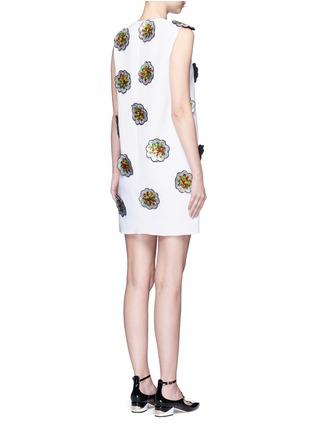 背面 - 点击放大 - VICTORIA, VICTORIA BECKHAM - 亮片花卉拼贴绉绸连衣裙