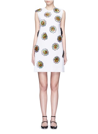 首图 - 点击放大 - VICTORIA, VICTORIA BECKHAM - 亮片花卉拼贴绉绸连衣裙