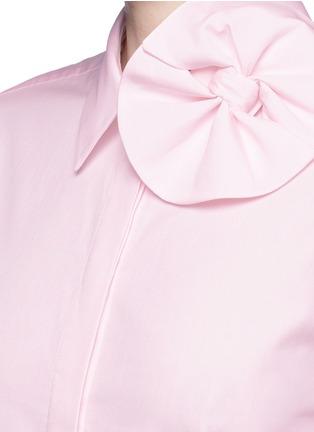 细节 - 点击放大 - VICTORIA, VICTORIA BECKHAM - 蝴蝶结纯棉府绸衬衫